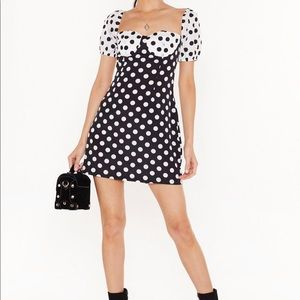 NASTY GAL Polka Dot Dress